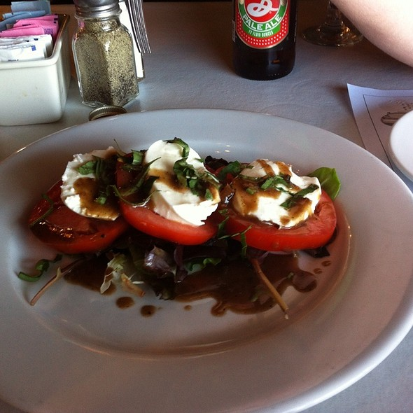Tomatoes And Mozzarella With Fresh Basil - Boar's Head Grill and Tavern, Savannah, GA