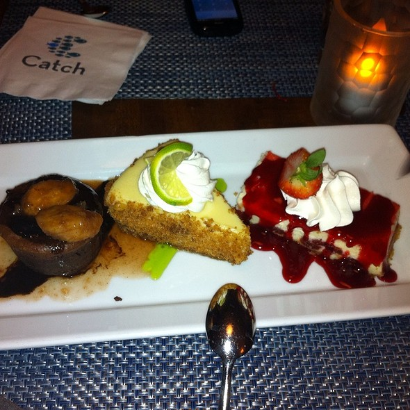 Triple Desert Plate - Catch Bar & Grill - Marriott - Biscayne Bay - Miami, Miami, FL