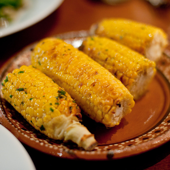 Wood oven-roasted corn on the cob - Camino, Oakland, CA