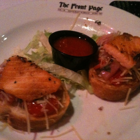 Salmon Bruschetta - The Front Page - VA, Arlington, VA