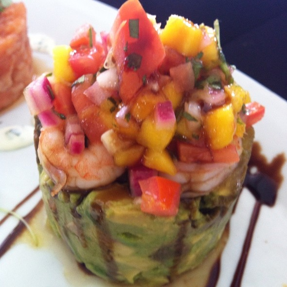 Avacado Tartar With Shrimp - George's in the Grove, Coconut Grove, FL