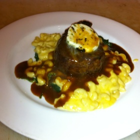 Filet Black Truffle Butter Truffled Mac And Cheese - Max's Bistro & Bar, Fresno, CA