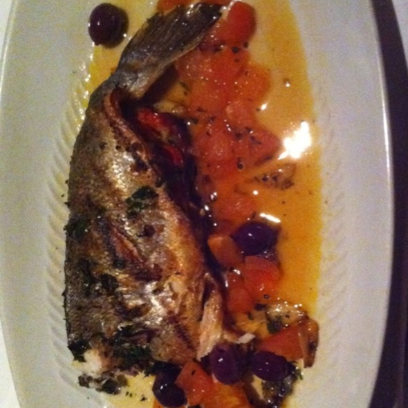 Whole Grilled Dorade - Timo Restaurant & Bar, Sunny Isles Beach, FL