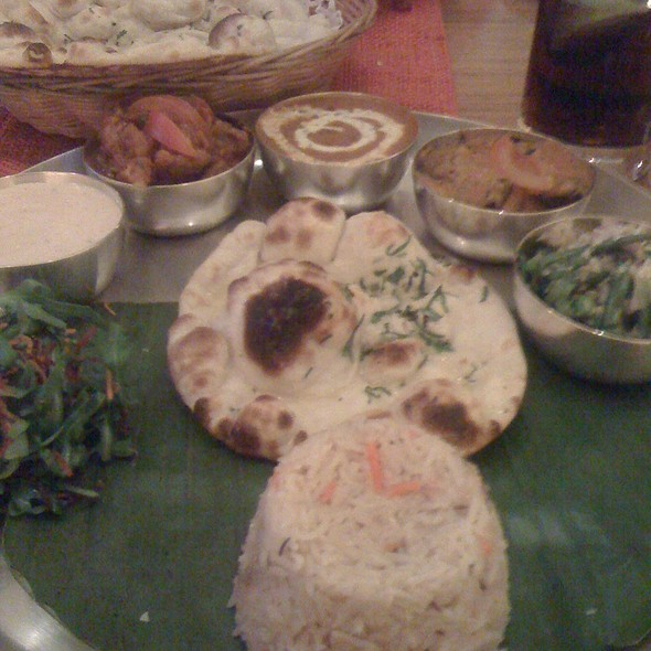 Vegetarian Thali - Babur, London