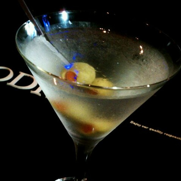 Ultimate Dirty Vodka Martini - ARA restaurant at Royal Sonesta Hotel Houston, Houston, TX