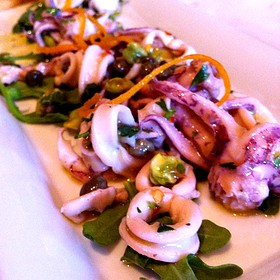Marinated Calamari With Capers, Orange, Arugula - Prelude at McCaw Hall, Seattle, WA