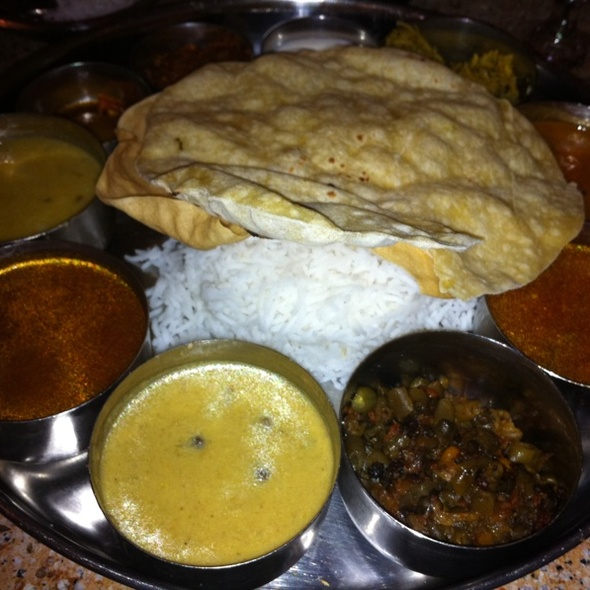 South Indian Thali - Navaratna, Stamford, CT