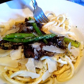 Bucatini With Roasted Mushrooms And Asparagus, Shaved Parmesan - Prelude at McCaw Hall, Seattle, WA