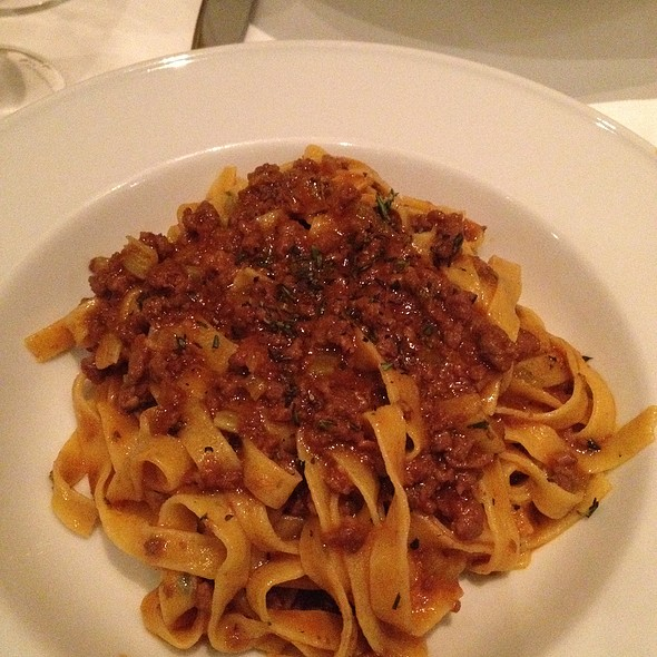Fettuccine with Lamb Ragu - Tosca Ristorante, Washington, DC