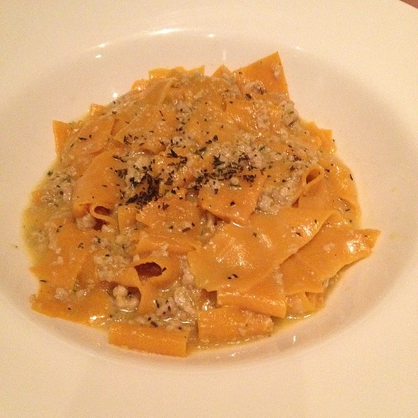 Carrot Flavored Pappardelle With Rabbit Ragu In White Wine Sauce & Fresh Thyme - Tosca Ristorante, Washington, DC