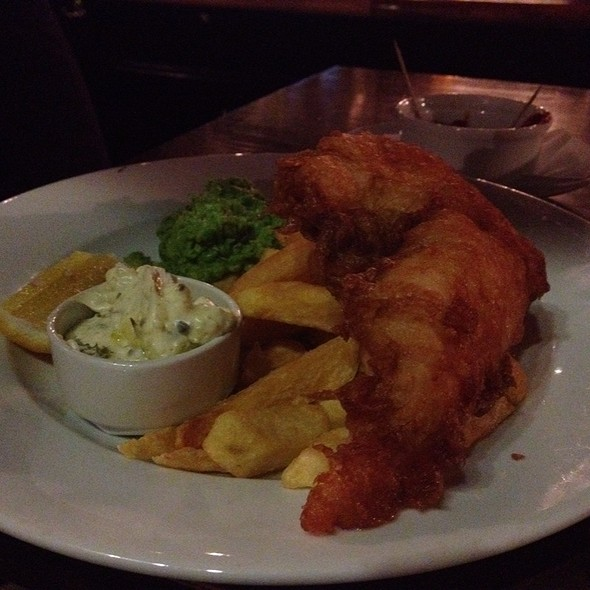 Fish & Chips and Mushy Peas - The Pembroke, London