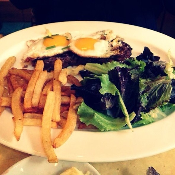 Steak And Eggs With Frites - Cafe d'Alsace, New York, NY