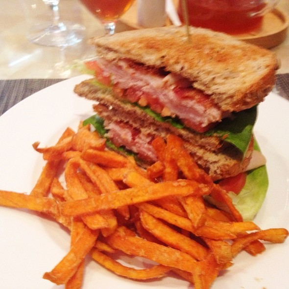 Turkey Club With Sweet Potato Fries - Trademark Drink + Eat, Alexandria, VA