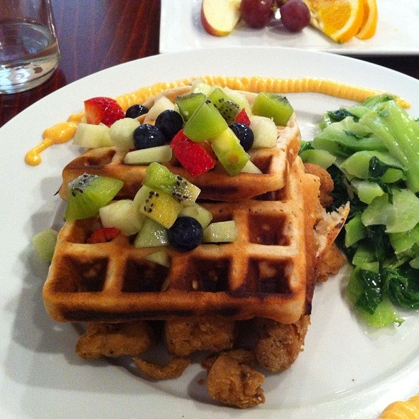 Chicken and Waffles - Mi Lah Vegetarian BYOB, Ambler, PA