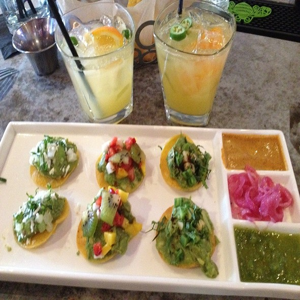 Guacamole Platter And Spicy Margs - La Sandia Stapleton, Denver, CO