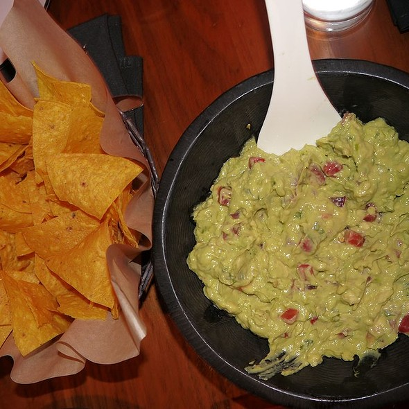 guacamole and warm corn tortilla chips - Dos Caminos - Third Avenue, New York, NY