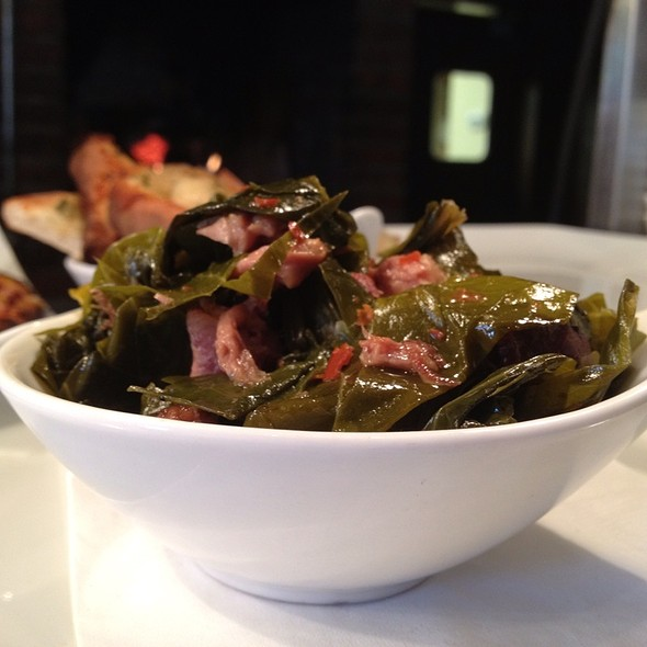 Braised Local Collard Greens With Smoked Ham Hock And North Carolina Vinegar - Frogs Leap Public House, Waynesville, NC