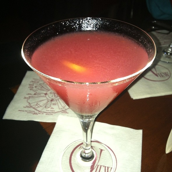 Summer Peach Cosmo - The View Restaurant, New York, NY