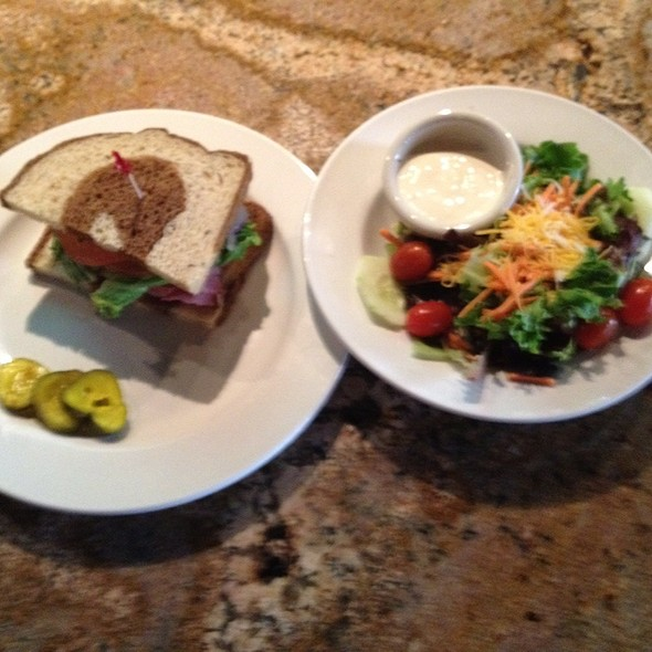 Lunch Combo: Pastrami On Marble Rye W/Garden Salad & Blue Cheese Dressing - The Phoenix Restaurant, Bend, OR