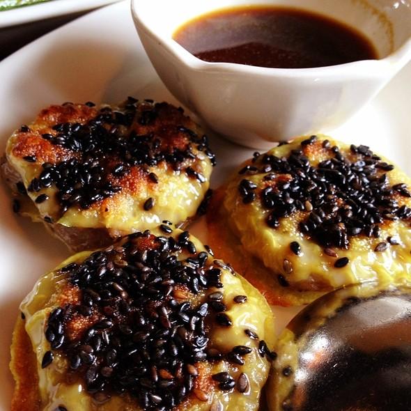 Pan Fried Dumplings with Beef and Preserved Vegetables - Wild Ginger - Bellevue, Bellevue, WA
