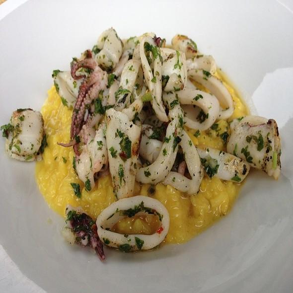 Grilled Rhode Island Calamari Saffron Risotto - b, A Bolton Hill Bistro, Baltimore, MD
