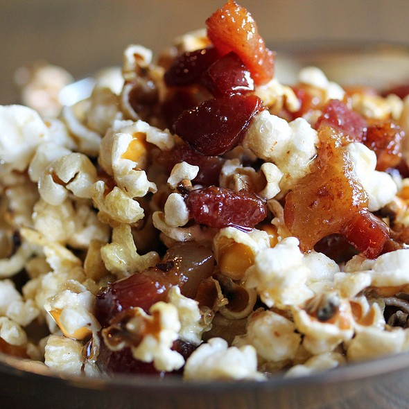 Truffled Maple Bacon Popcorn - Alobar Restaurant, Long Island City, NY