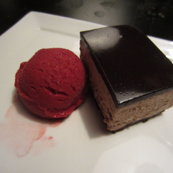 Chocolate Cake w/ Sorbet - NINJA NEW YORK, New York, NY