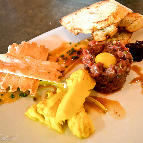 steak tartare - Barking Frog, Woodinville, WA