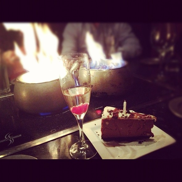 Champagne And Chocolate Cheesecake For My Birthday - Simply Fondue - Ft Worth, Fort Worth, TX