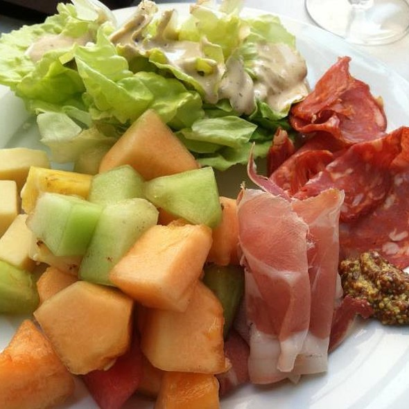 Italian cured meats, melon salad and bib lettuce caesar salad - Piccolina Toscana, Wilmington, DE