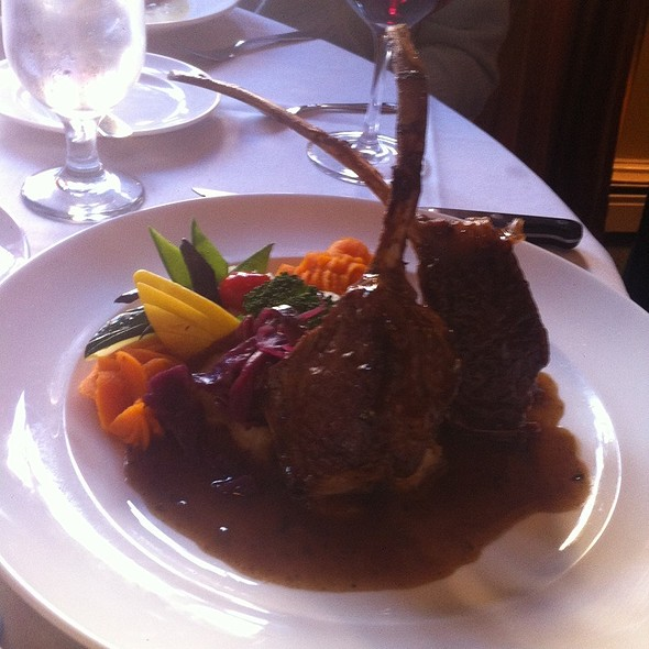 Lamb dinner - Bouchard Restaurant and Inn, Newport, RI