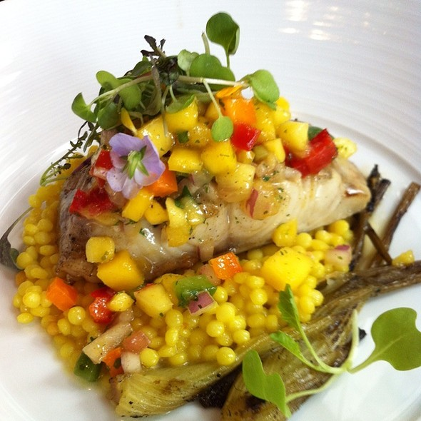 Black Cod On Couscous With Mango Relish - Gazette Restaurant Montreal, Montréal, QC