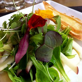 Mixed Salad On Palm Heart Frame  - Gazette Restaurant Montreal, Montreal, QC