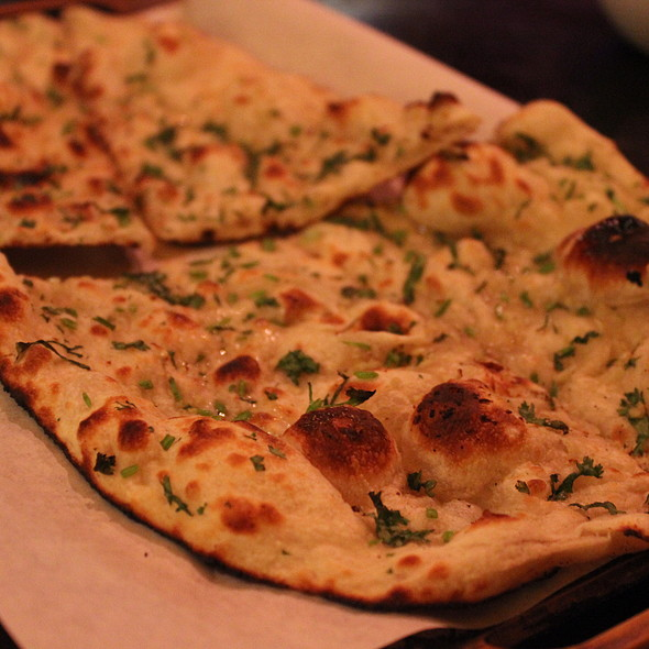 Garlic Naan Bread - Mayur Cuisine of India, Corona Del Mar, CA