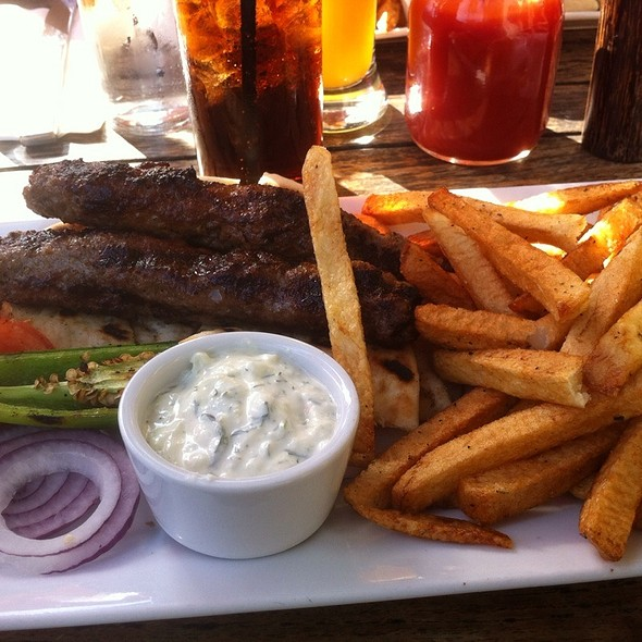 Bifteki Platter - Ovelia Psistaria Bar, Astoria, NY