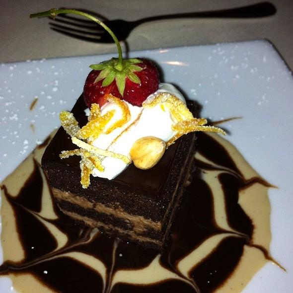 Chocolate, Caramel Pistachio Cake - Mille Fleurs, Rancho Santa Fe, CA