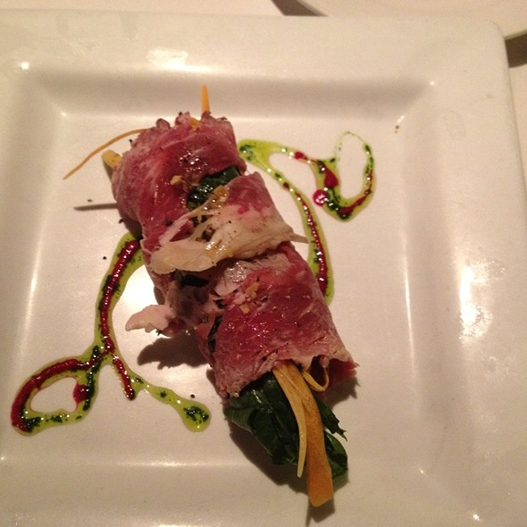 Aged Loin of Beef, Sorrel, and Horseradish - 360 Bistro, Nashville, TN