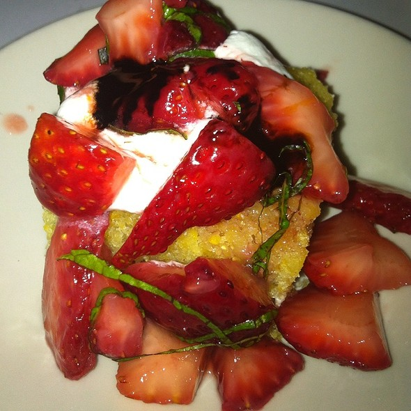 Strawberry-Polenta Shortcake With Fresh Mint & Balsamico - Little Savannah, Birmingham, AL