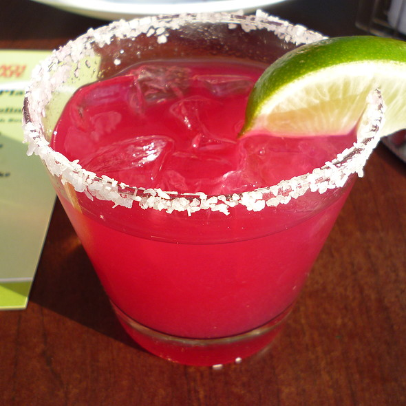 Tropical Prickly Pear Margarita - Beach Cafe, Kirkland, WA