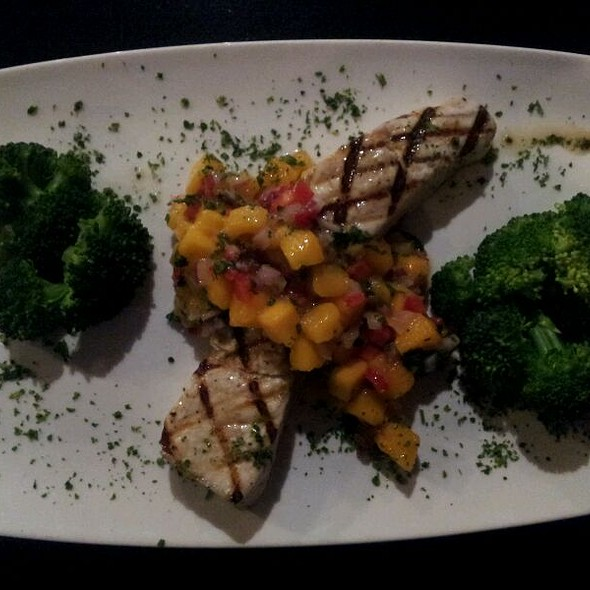 Atlantic Grilled Swordfish With Mango Salsa - DD Flats Wine Bar & Flatbread Company, Boca Raton, FL