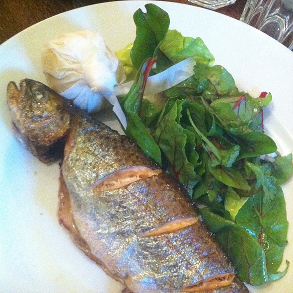 Trout with preserved lemon, mint, cilantro and garlic - The Albion, London