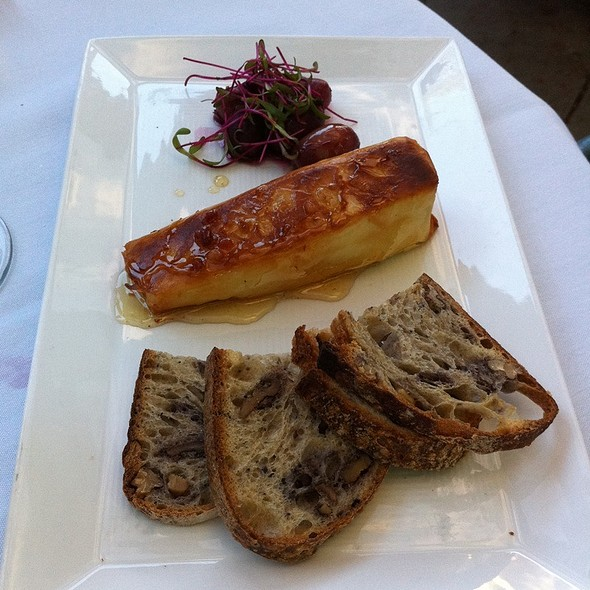 Warm Phyllo Wrapped Brie Cheese With Smoked Bacon Honey - Bridges Restaurant, Danville, CA