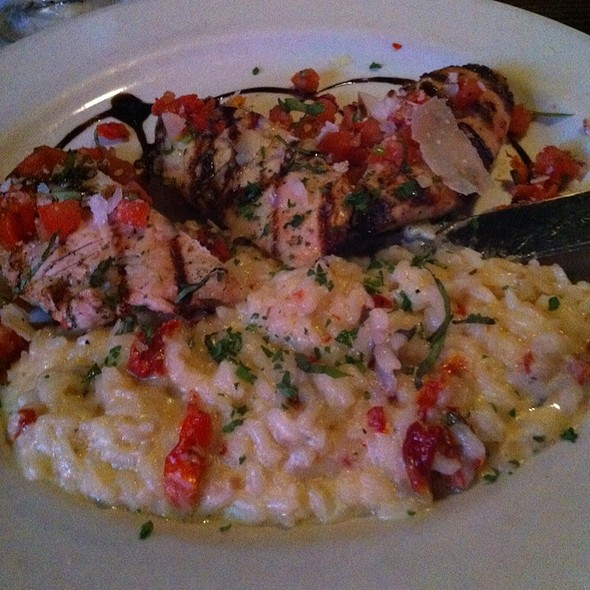 Grilled Chicken Bruschetta With Sun Dried Tomato Risotto - Pier 500, Hudson, WI