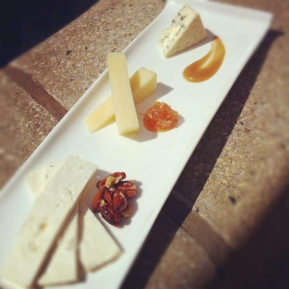 Cheese Sampler: Narragansett Atwell's Gold With Honeycomb/Salty Sea Feta With Glazed Nuts/ Great Hills Blue With Pear Butter - Libations Restaurant and Lounge at The Radisson Hotel Providence, Warwick, RI
