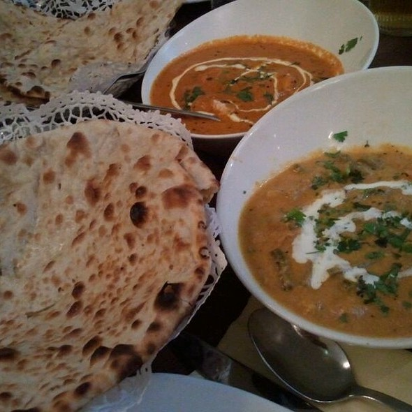 Vegetable Korma & Peschawari Naan - Woodlands Restaurant Piccadilly, London