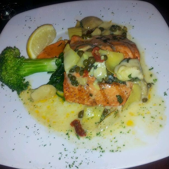 Grilled Wild Salmon - Veritas Steak & Seafood, Sugar Land, TX