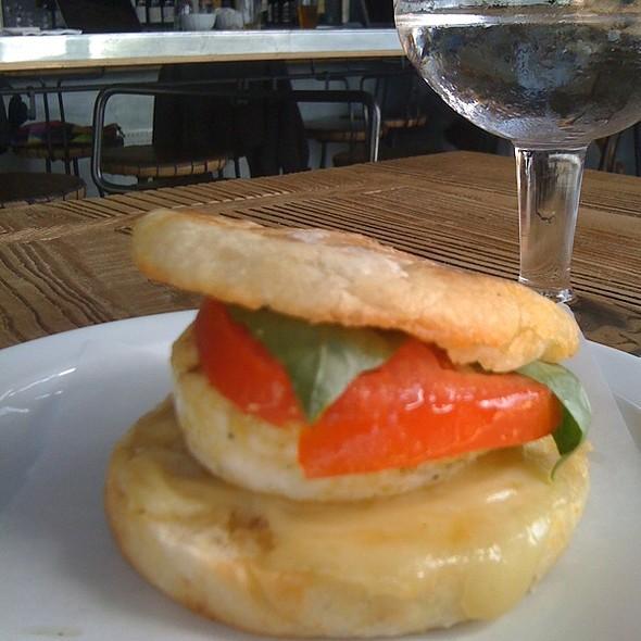 Breakfast Sandwich (Egg, Tomato, Swiss, Basil) - Zinqué - Venice, Venice, CA
