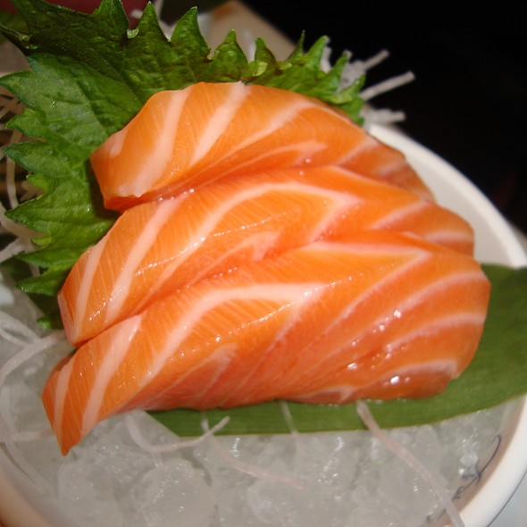 Salmon Sashimi - The Blue Fish - Washington, Houston, TX