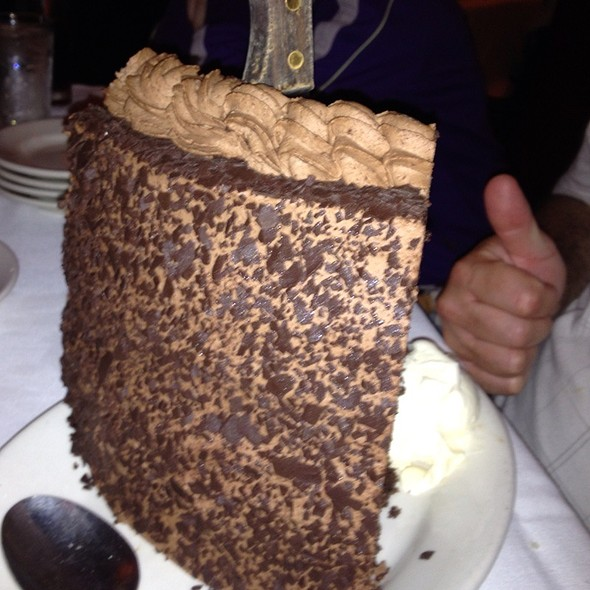 Back View Chocolate Cake - Gibsons Bar & Steakhouse - Rosemont, Rosemont, IL