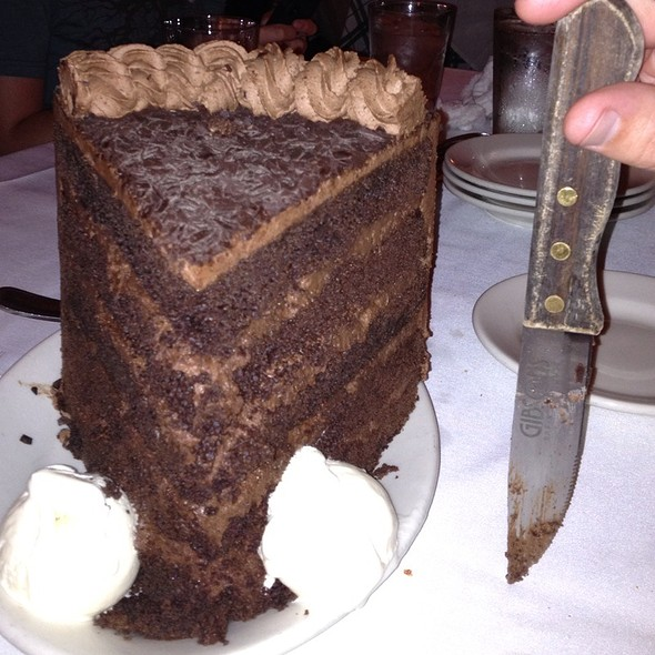 Front View Chocolate Cake - Gibsons Bar & Steakhouse - Rosemont, Rosemont, IL